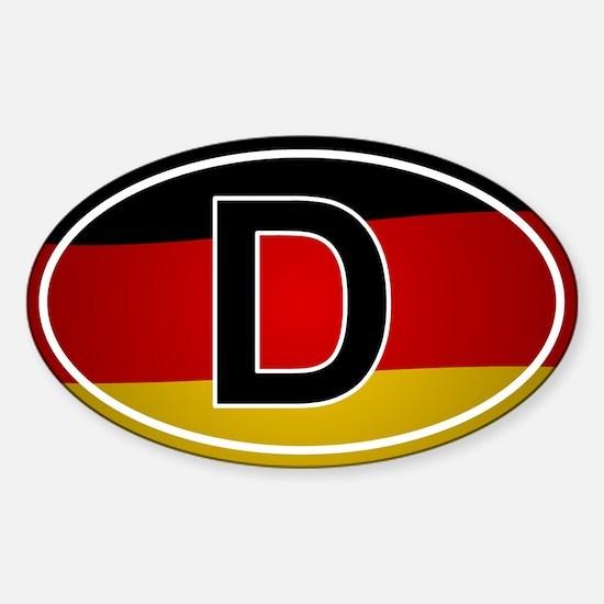 German Oval Car Sticker - Flag Design