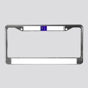 Three Lines Abstract Composition License Plate Fra