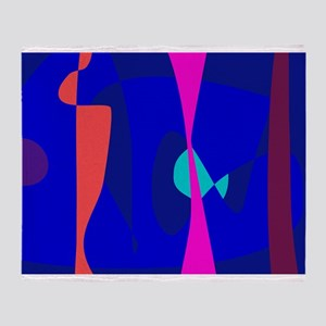 Three Lines Abstract Composition Throw Blanket