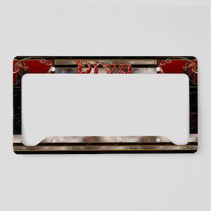 Harvest Moons Art Deco Diva License Plate Holder