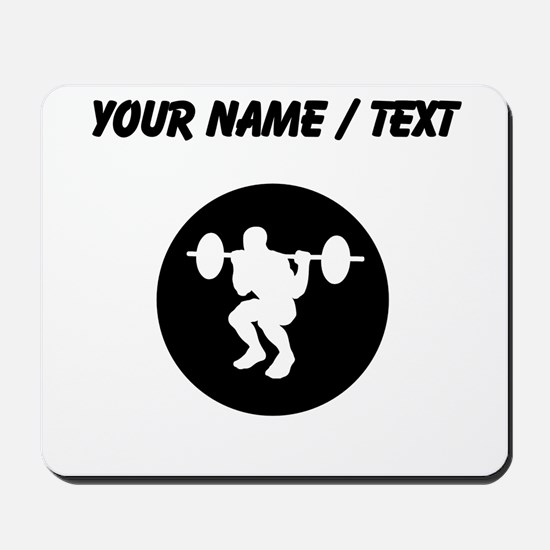 Custom Weightlifting Squats Mousepad