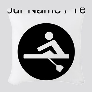 Custom Rowing Woven Throw Pillow