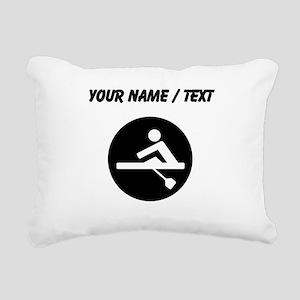 Custom Rowing Rectangular Canvas Pillow