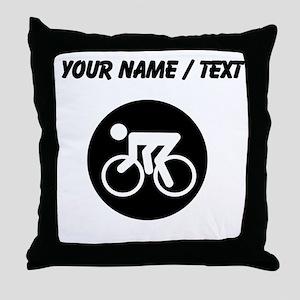 Custom Cycling Throw Pillow