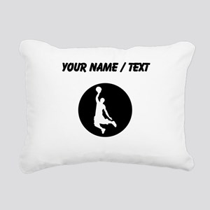 Custom Basketball Dunk Rectangular Canvas Pillow