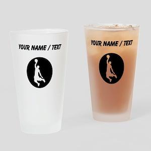 Custom Basketball Dunk Drinking Glass