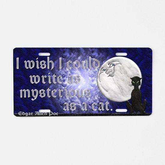 Harvest Moons Black Cat Aluminum License Plate