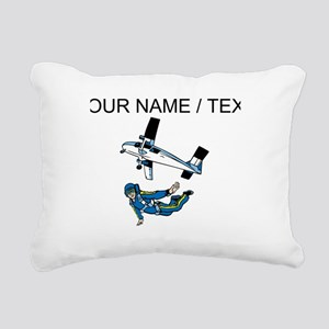 Custom Skydiving Rectangular Canvas Pillow