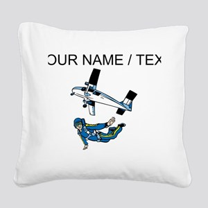 Custom Skydiving Square Canvas Pillow