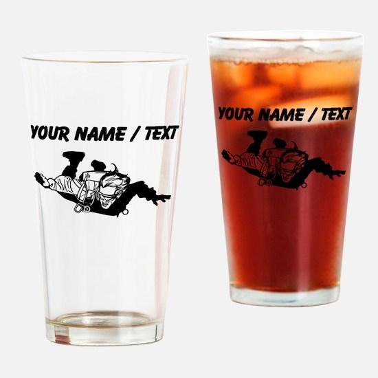 Custom Skydiver Drinking Glass