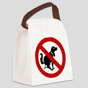 No Dog Poop Sign Canvas Lunch Bag