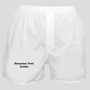 Romanian Food lover Boxer Shorts