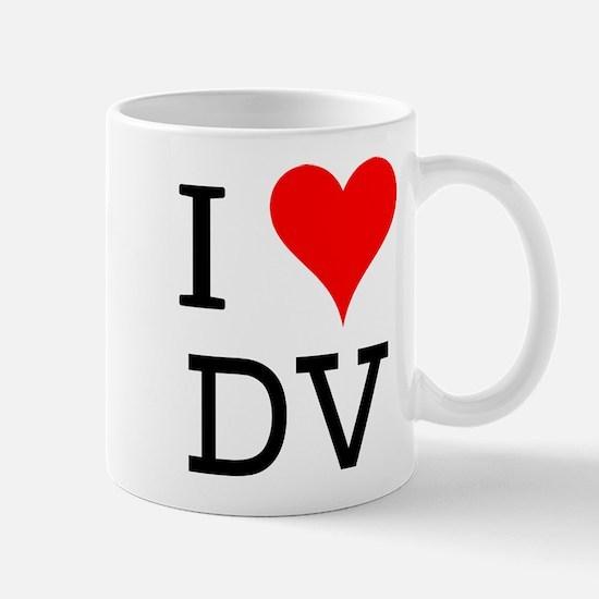 I Love DV Mug
