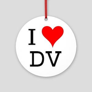 I Love DV Ornament (Round)