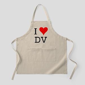 I Love DV BBQ Apron
