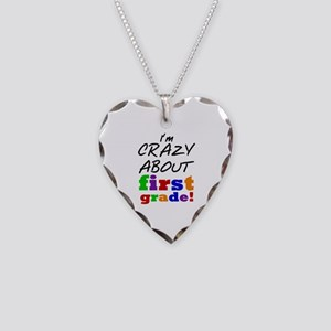 Crazy About First Grade Necklace Heart Charm