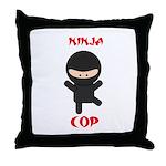 Ninja Cop Throw Pillow