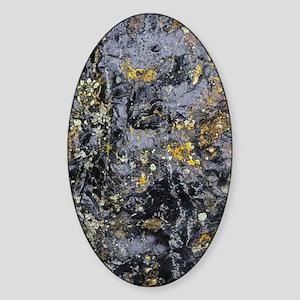 Obsidian and Lichen Sticker (Oval)