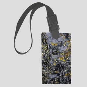 Obsidian and Lichen Large Luggage Tag