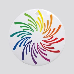 Color Wheel Flower Round Ornament