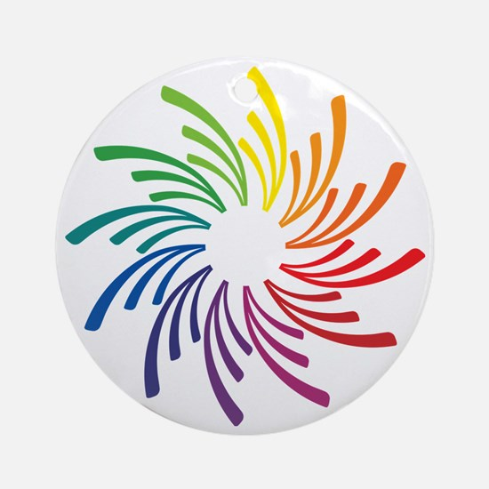 Color Wheel Flower Round Ornament