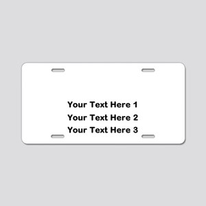 Make Personalized Gifts Aluminum License Plate