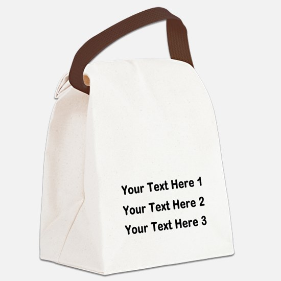 Make Personalized Gifts Canvas Lunch Bag