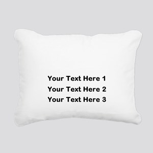 Make Personalized Gifts Rectangular Canvas Pillow