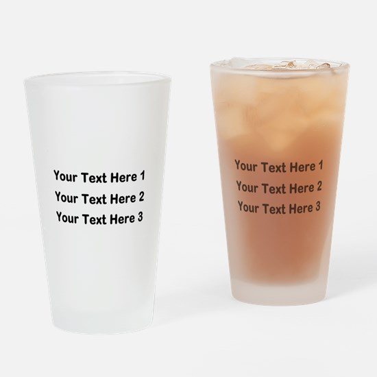 Make Personalized Gifts Drinking Glass