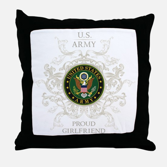 US Army Seal proud girlfriend Throw Pillow