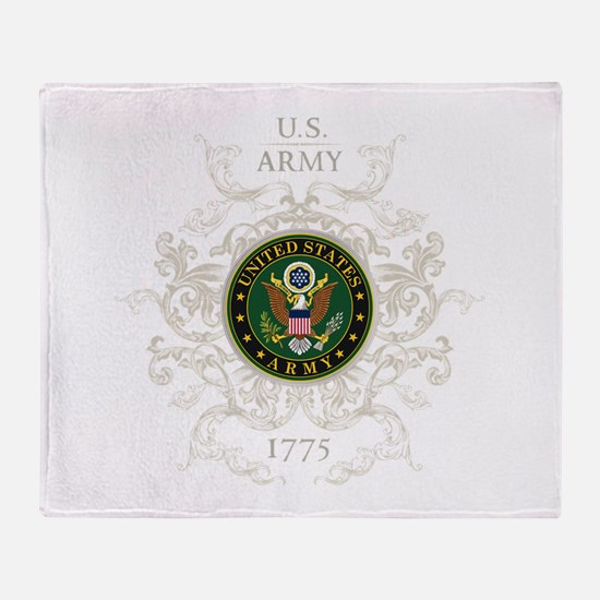 US Army Seal 1775 Vintage Throw Blanket