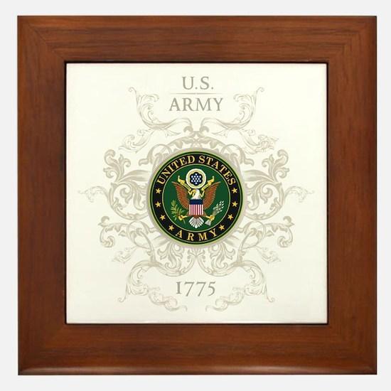 US Army Seal 1775 Vintage Framed Tile