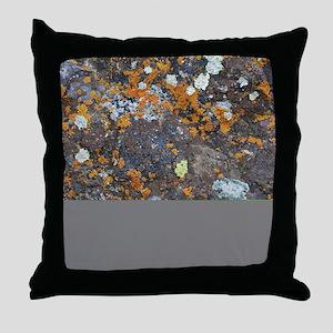 Lichen and Rock Throw Pillow