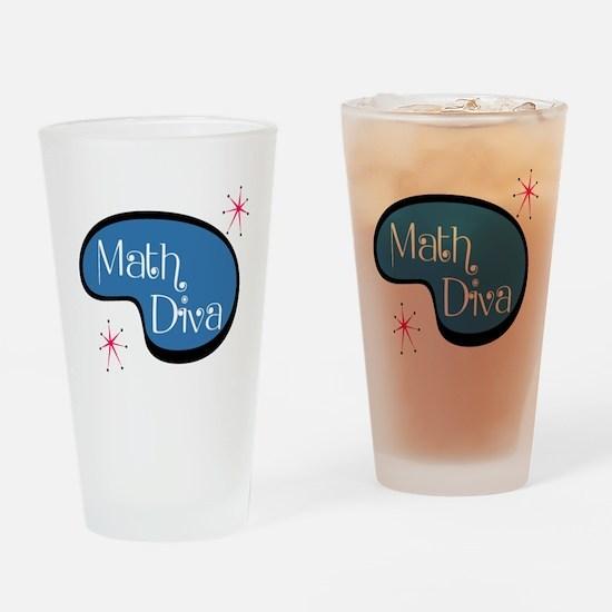 Math Diva Drinking Glass