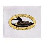 Grand Rapids Loon Throw Blanket