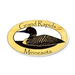 Grand Rapids Loon Oval Car Magnet