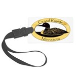 Grand Rapids Loon Large Luggage Tag