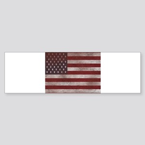 Vintage American Flag 4 Bumper Sticker