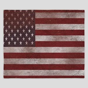 Vintage American Flag 4 King Duvet