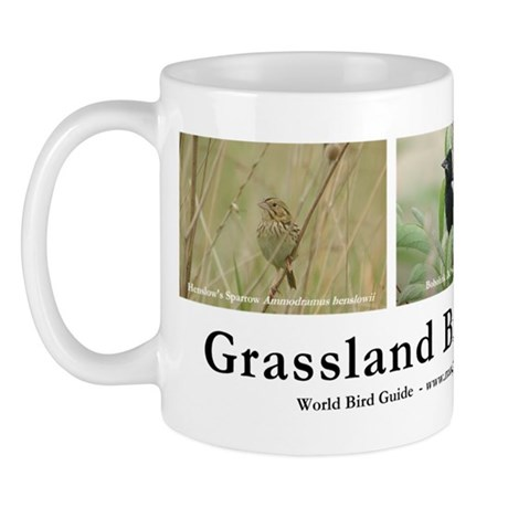 Ohio Grassland Birds Mug (white)