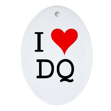 I Love DQ Oval Ornament