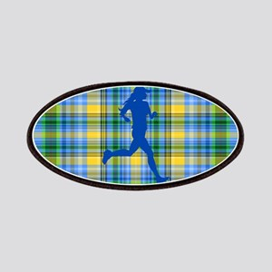 Runners Plaid female blue Patches