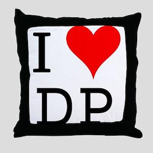 I Love DP Throw Pillow