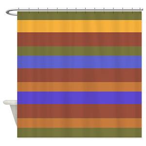 Modern Earth Tones Shower Curtains