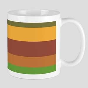 Earth Tone Stripes Mugs