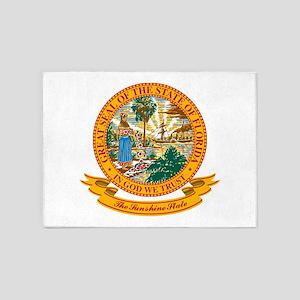 Florida Seal 5'x7'Area Rug