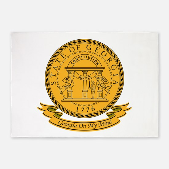 Georgia Seal.png 5'x7'Area Rug
