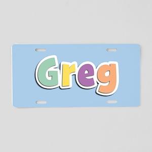 Greg Spring14 Aluminum License Plate