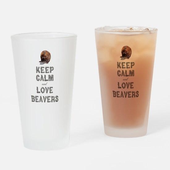Wood Badge Beaver Drinking Glass