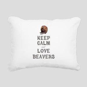 Wood Badge Beaver Rectangular Canvas Pillow